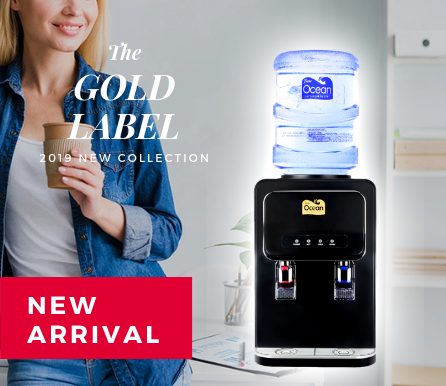 Gold Table Top Direct Piping Water Dispenser