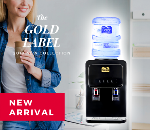 Gold Table Top Bottled Water Dispenser (Hot & Cold)