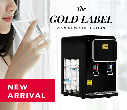 Gold Table Top Direct Piping Water Dispenser (Hot & Cold)