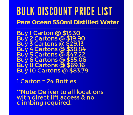 550ml Pere Ocean Pure Distilled Water