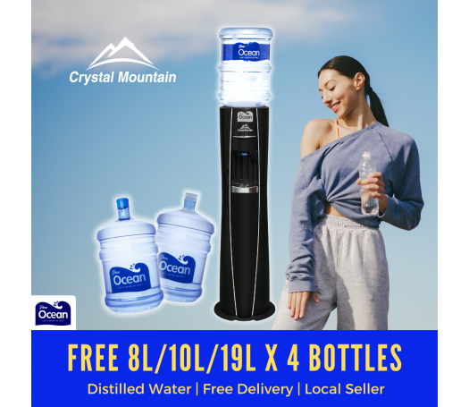Pere Ocean Crystal Mountain Everest Elite Hot and Cold Floor Stand Bottled Water Dispenser