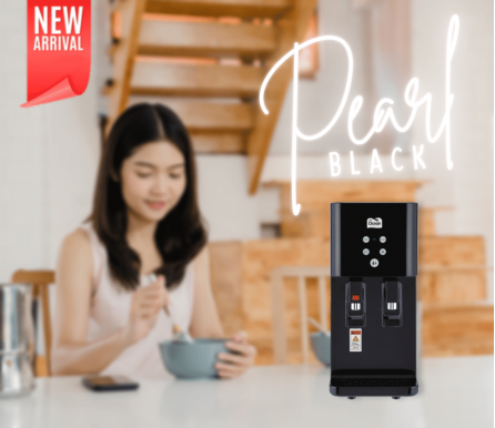 Pere Ocean Pearl Black Hot and Cold Table Top Direct Piping Water Dispenser and Water Purifier from Korea