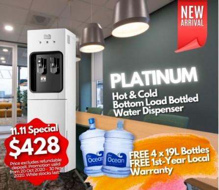 Pere Ocean Platinum Hot and Cold Bottom Load Bottled Water Dispenser