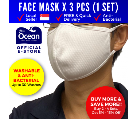 Pere Ocean Reusable Washable Anti Bacterial Adult Face Mask