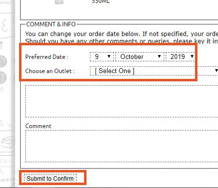 Pere Ocean Repeat Bottled Water Order Online via Email Step 6