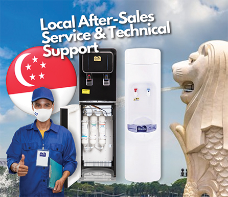 Pere Ocean provides Free 1st Year Local Warranty, Local After-Sales Service and Technical Support for all Water Dispensers and Water Purifiers in Singapore