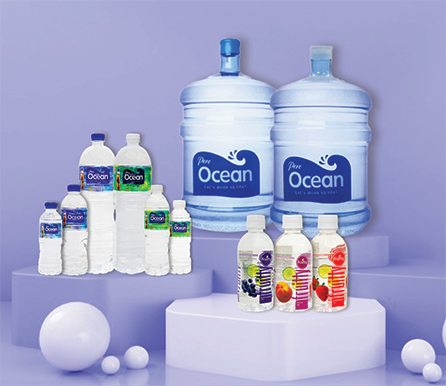 Pere Ocean Customized Bottled Water Labels Gallon Bottled Water Natural Mineral Water, Pure Distilled Drinking Water, Isotonic Sports Drink, Vitaminised Drink and Sparkling Water