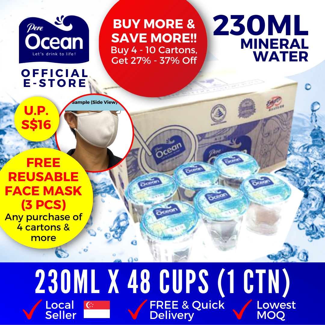 Pere Ocean Mineral Water 230ml Bulk Discount
