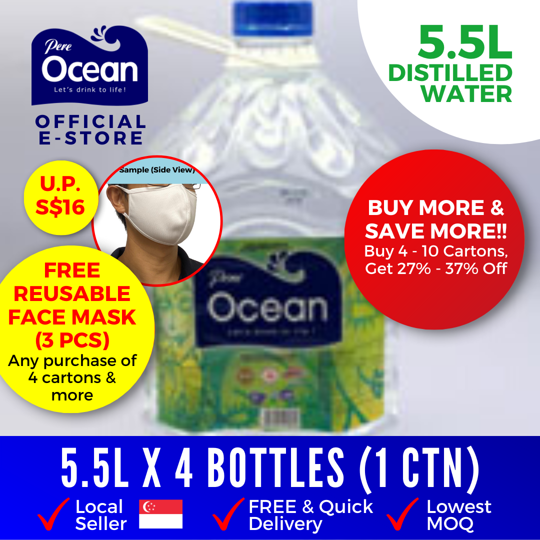 Pere Ocean Distilled Water 5.5L Bulk Discount