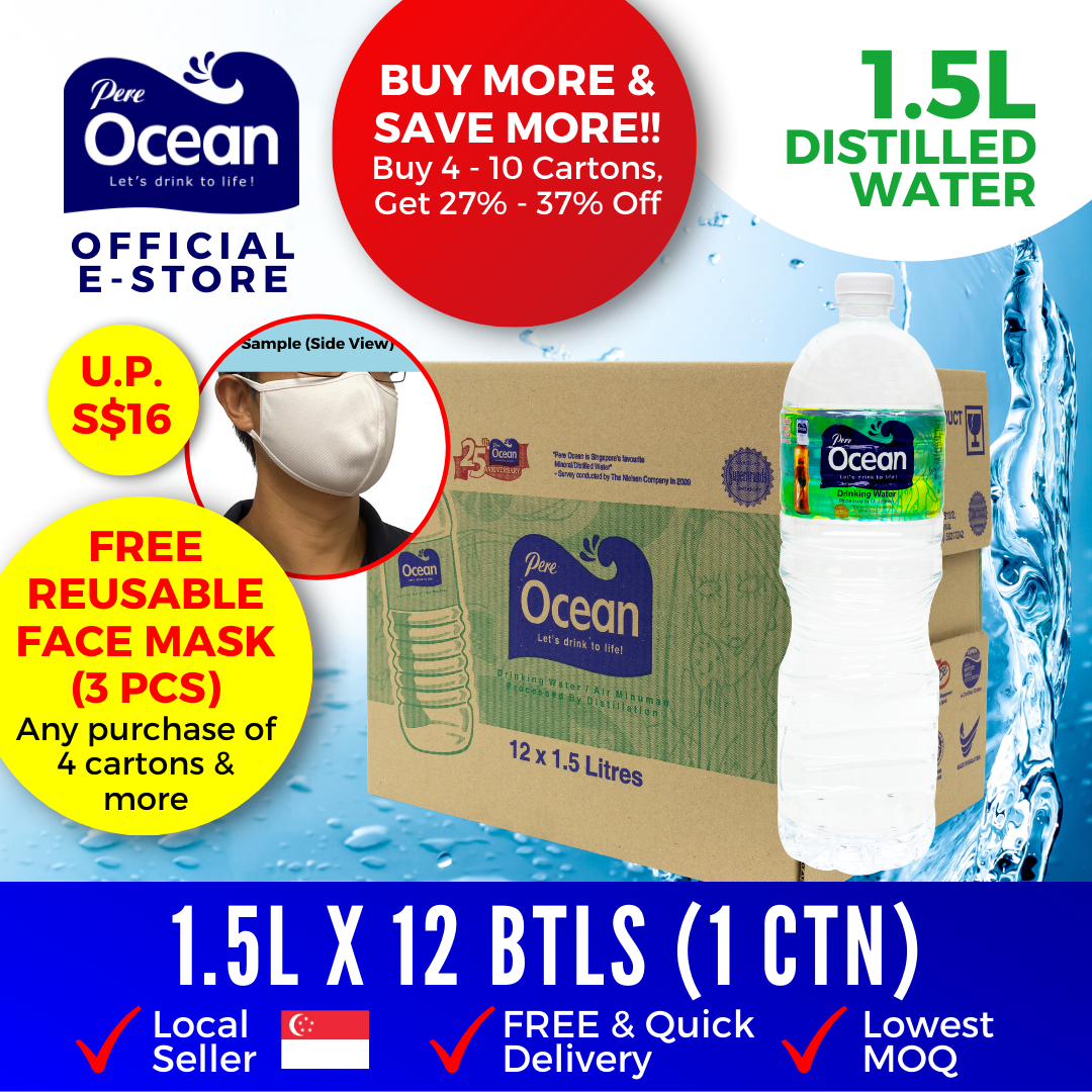 Pere Ocean Distilled Water 1.5L Bulk Discount