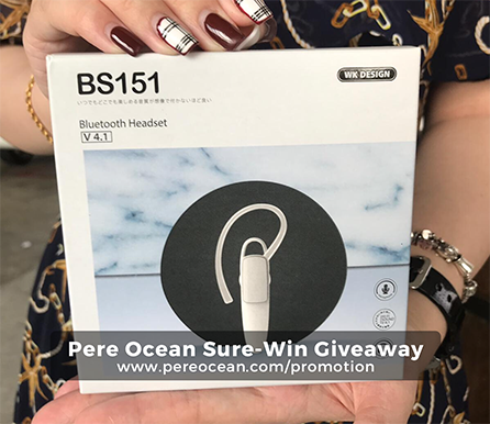 Pere Ocean Sure-Win Giveaway BS151 Bluetooth Headset