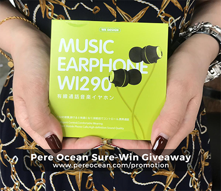 Pere Ocean Sure-Win Giveaway WI290 WK Music Earphone